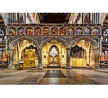 The Rood Screen at Exeter Cathedral Photographic Print