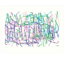 Word Salad Art Print