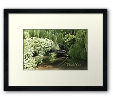 Rosebridge at Mottisfont Framed Print