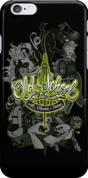 Old School All Electric Tattoo by satansbrand