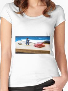 Braaains Women's Fitted Scoop T-Shirt
