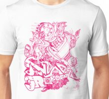 Robocat battle time out Pink Unisex T-Shirt
