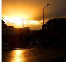 Dark Sunset Photographic Print