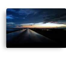 Driving Out of the Storm ! Canvas Print