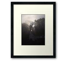 smoke and fog Framed Print