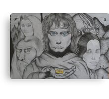 Frodo and crew Canvas Print
