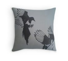 friendly feathers Throw Pillow