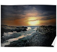 Oregon Coast Sunset Poster