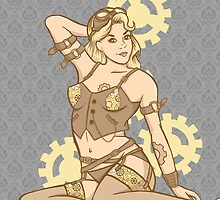 Steampunk pinup by Eriphyle