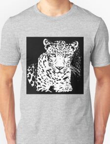 Leopard Black And White Portrait T-Shirt Unisex T-Shirt