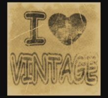 I Heart Vintage #2 T-Shirt by Nhan Ngo