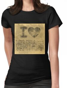 I Heart Vintage #2 T-Shirt Womens Fitted T-Shirt