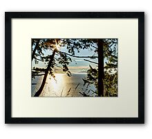 Shining on Golden Bay Framed Print