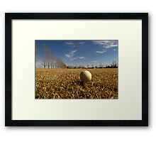 """""""FOUR"""" what does that mean anyway..??? (Larger is Funner) Framed Print"""