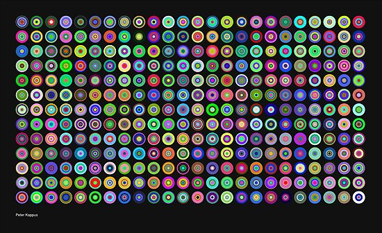 Chromatic Concentric Disc Grid by Peter Kappus