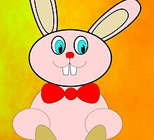 Easter Bunny Greetings Card by Dennis Melling