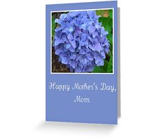 Blue Hydrangea Mother's Day Card for Mom Greeting Card
