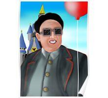Kim Jong Il in Disneyland Poster