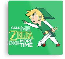 Call Me Zelda, Link Metal Print