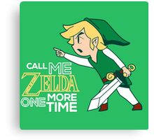 Call Me Zelda, Link Canvas Print