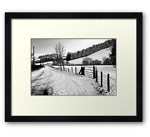 Welsh Winter View Framed Print