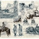 War drawings by David  Kennett