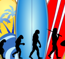 Surfer Evolution Sticker