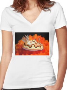 My Small World Women's Fitted V-Neck T-Shirt