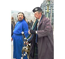 Culture Shock. An encounter on Westminster Bridge, London, England. Photographic Print