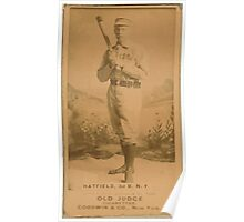 Benjamin K Edwards Collection Gill Hatfield New York Giants baseball card portrait Poster