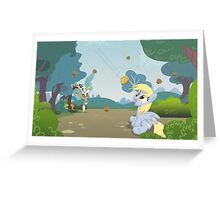 It's raining muffins Greeting Card