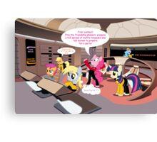 Pony Trek-The Next Ge-neigh-ration Canvas Print