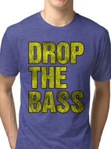 Drop The Bass (yellow) Tri-blend T-Shirt