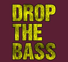 Drop The Bass (yellow) Womens Fitted T-Shirt