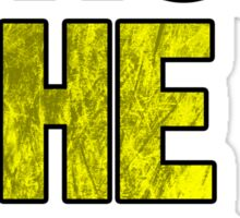 Drop The Bass (yellow) Sticker