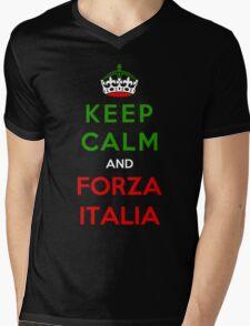 Keep Calm And Forza Italia Mens V-Neck T-Shirt