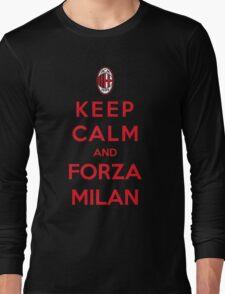 Keep Calm And Forza Milan Long Sleeve T-Shirt