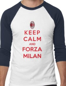 Keep Calm And Forza Milan Men's Baseball ¾ T-Shirt