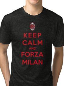 Keep Calm And Forza Milan Tri-blend T-Shirt