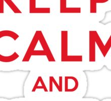 Keep Calm And Forza Milan Sticker