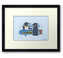 Penguin bar Framed Print