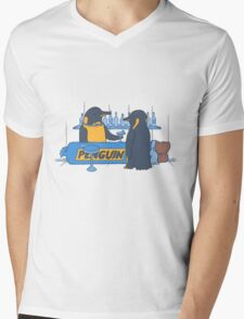 Penguin bar Mens V-Neck T-Shirt