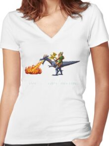Golden Axe Pixel Style- Retro DOS game fan shirt #2 Women's Fitted V-Neck T-Shirt