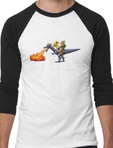 Golden Axe Pixel Style- Retro DOS game fan shirt #2 Men's Baseball ¾ T-Shirt