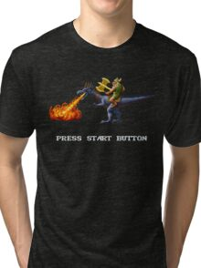 Golden Axe Pixel Style- Retro DOS game fan shirt #2 Tri-blend T-Shirt