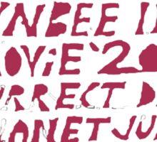 Toynbee tile Sticker