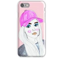 Lottie Tomlinson Portrait Drawing  iPhone Case/Skin