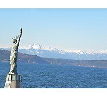 Mini Liberty In Seattle  Photographic Print