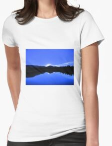 Blue Mirror Lake Womens Fitted T-Shirt