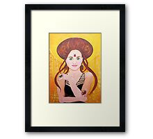Vanessa, Bug Lover | Acrylic Portrait Painting Framed Print